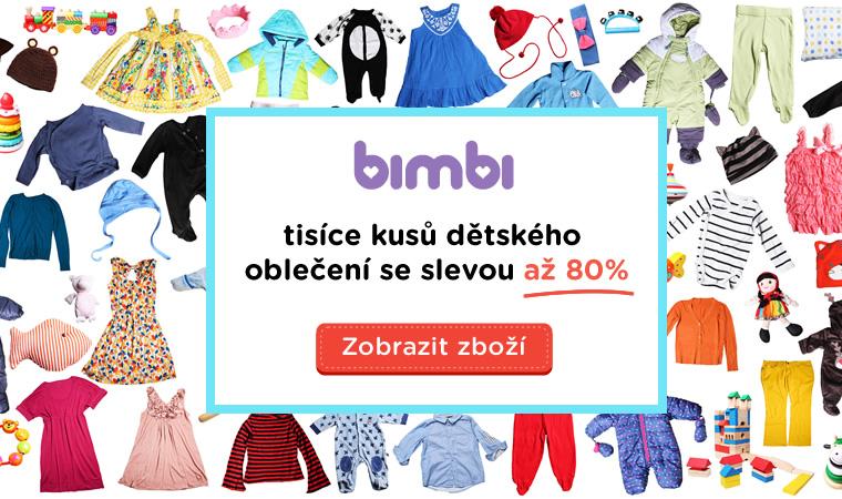 Bimbi.cz: Plyšáček zdarma při nákupu dětského oblečení nad 500 Kč